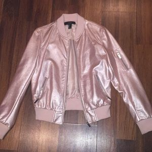 NEW Forever 21 faux leather jacket (CROME PINK)